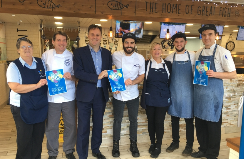 julian sturdy mp small business saturday millers fish and chips