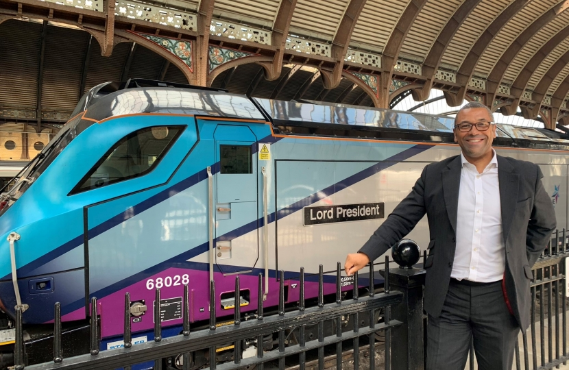 James Cleverly New TransPennine Express Train